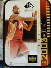 OPENED 2003-04 Upper Deck SP Signature LEBRON JAMES RC YEAR tin