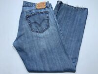 Men's Levis 527 Red Tab Blue Jeans Denim Distressed Size 36x30 Boot Cut