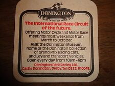 Beer drinks mats drip mats coaster SABRE LAGER DONNINGTON RACE CIRCUIT DERBY