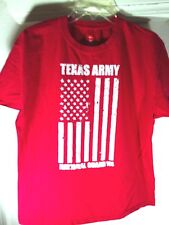 L red T-Shirt TEXAS ARMY NATIONAL GUARD strong PROUD flag MILITARY heroes SERVE