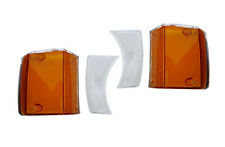 VOLVO 140 TURN SIGNAL LENS amber and clear set of 4  front 1973,1974