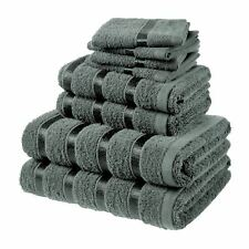 Luxury Bathroom Towel Bales Set 4 Small Face Wash Cloths 2 Hand Flannel 2 Sheets