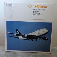 Herpa 504164 1:500 Lufthansa Boeing 747 400 Star Alliance top Zustand mit OVP
