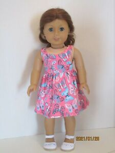 "Butterfly Sundress for 18"" Doll Clothes American Girl"
