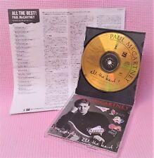 24K Gold CD+2 booklets All the Best by PAUL McCARTNEY & Wings Karat CD