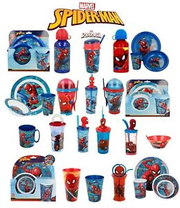 Marvel Spiderman World-15 Character Items Breakfast Sets,3D Tumblers,Bottle more