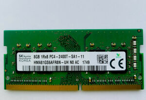 SK hynix, 8GB 1Rx8  Ram PC4- 2400T-SA1-11. SDRAM SODIMM Notebook Memory