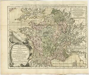 Antique Map of ancient France by Zannoni (1765)