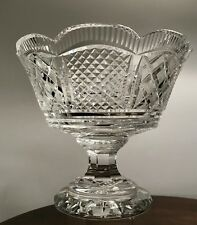 """10"""" Waterford Crystal Georgian Master Cutter Footed Scalloped Centerpiece Bowl"""