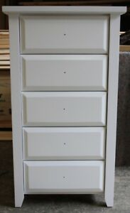 Chest of Drawers, Manilla,Slimboy, 5 Drw,WHITE