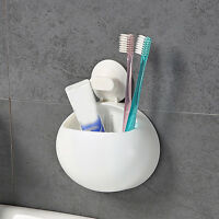 Bathroom Toothbrush Holder Wall Mount Suction Cup Toothpaste Storage Case#