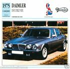 DAIMLER DOUBLE SIX 1975 à nos jours CAR VOITURE GREAT BRITAIN CARTE CARD FICHE B