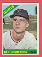1966 Topps # 39 Ken Henderson -- Giants -- Box 118-390