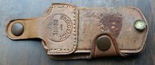 RARE 50s JACK EVANS DAYTON OH CHRYSLER PLYMOUTH LEATHER EMERGENCY COIN POUCH WOW