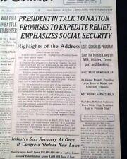 FIRESIDE CHAT SPEECH Franklin D. Roosevelt WORKS RELIEF PROGRAM 1935 Newspaper