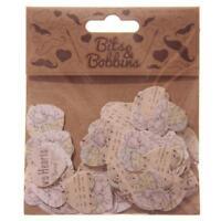 Confettis en papier de décoration forme coeurs 150 par sachet scrapbooking