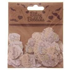 Confettis en papier de décoration forme coeurs 150 par sachet scrapbook collage