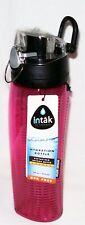 NWT 24oz THERMOS Intak UNBREAKABLE TRITAN Hydration Water Bottle Pop-Up Lid PINK