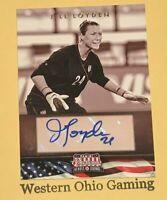 2012 Panini Americana Jill Loyden #54 Autograph #056/129 MADE Soccer Heroes