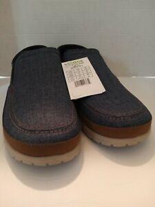 Crocs Santa Cruz Playa Slip On Shoes Blue Canvas 204835-4FT Men's Size 13