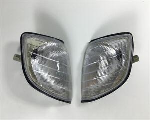 PAIR White Front bumper Fog Corner Light Lamps For Mercedes W140 S320 S420 S600