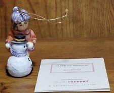 """Berta Hummel """"A Gift For Snowman"""" Figurine Ornament~Ashton-Drake~ Studio Hummel"""