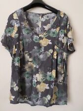 New Ladies NEXT Grey Floral Crepe Style Blouse Top SIZE: UK 6 - READ
