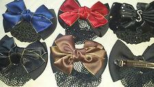 Joblot 24 pcs Mixed colour Bow Design Silk hairclips hairgrips wholesale lot 32