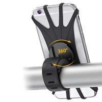 Mobile Phone Holder Handlebar Mount 360° Rotation for Motorcycle Bicycle Bike US