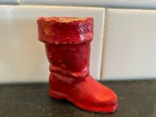 """Vtg Pre-War German Paper Mache Christmas Boot Med Candy Container 2.5"""" Germany"""
