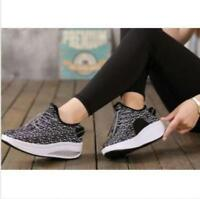 New Breathable Womens Lace Up Toning Fitness Walking Comfort Shoes Sneakers R753