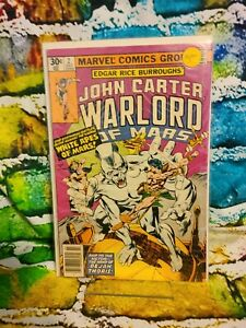 JOHN CARTER WARLORD OF MARS # 2 (1977) MARVEL COMICS -Bagged and Boarded!!!🔥🚀