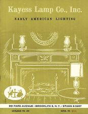 Early American Lighting 1963 Catalog Kayess Lamp Co. Brooklyn New York