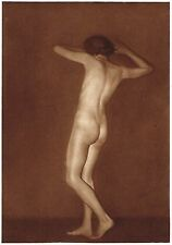 1920's Vintage Polish Female Nude Model Art Deco G. Kruff Photo Gravure Print