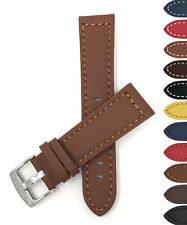 Bandini Mens Leather Watch Band Strap, Racer, Thick, 6 Colors 20 22 24 26 28mm