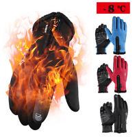 RockBros Winter Thermal Gloves Gel Motorcycle Gloves Waterproof Snowboard Gloves