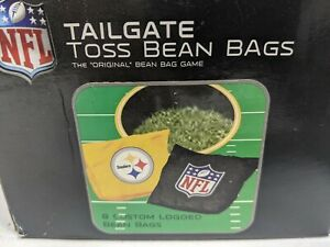 NFL PITTSBURGH STEELERS CORNHOLE BEAN BAGS 8 BAG TOSS WEATHER TAILGATE TOSS