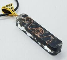 Orgone Necklace Onyx Quartz Crystal Obsidian Pendant Chakra Reiki Yoga Healing