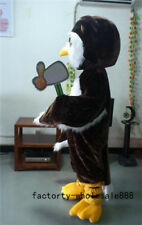 Professional Big Brown Owl Mascot Costume suit hallween Fancy Adult Size uk