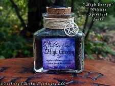 HIGH ENERGY Witches Spiritual Salt Hand-Colored For Higher Self, Consciousness