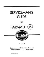 International IH FARMALL Model A Servicemans Shop Service Guide manual