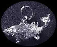 LOOK Sterling Silver 925 Tropical Fish Pendant Charm Jewelry
