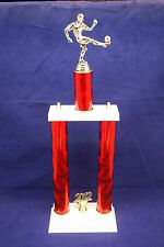 "CUSTOM 23"" 2-POST TROPHY-BASKETBALL, WRESTLING, SWIMMING, SOCCER, BASEBALL, MORE"