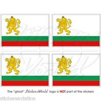 "Bulgarian Naval Ensign BULGARIA NAVY Flag 50mm (2"") Bumper Stickers, Decals x4"