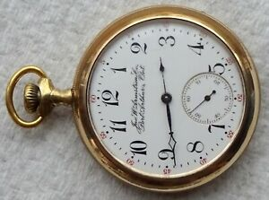Antique Rockford pocket watch,16s, OF, grade 605, 11J, Jno. W. Armstrong on dial