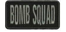 BOMB SQUAD embroidery patches 2x4 hook gray letters