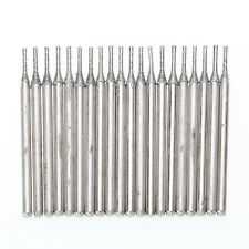 20pcs Lapidary Diamond Coated Hole Drill Solid Bits Needle Gems Glass Tile 1mm