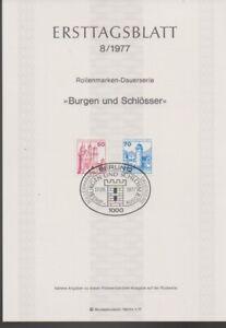Ersttagsblatt 8/1977 Burgen und Schlösser