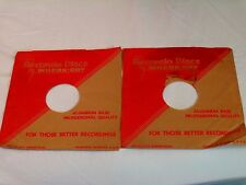 "WILCOX GAY RECORDIO 10"" PAPER SLEEVES*FROM THE 1940""s* MADE IN CHARLOTTE MI"