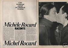 Coupure de presse Clipping 1980 Michèle Rocard raconte Michel Rocard (6 pages)